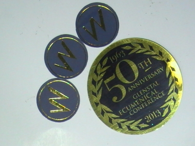 Gold Circle Stickers