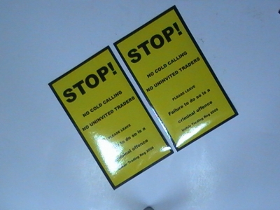 Danger Sign Stickers