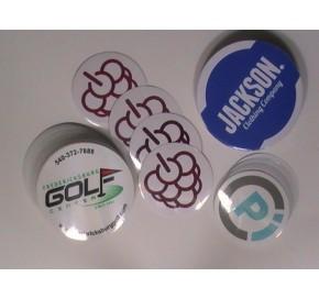 Round White Vinyl Sticker