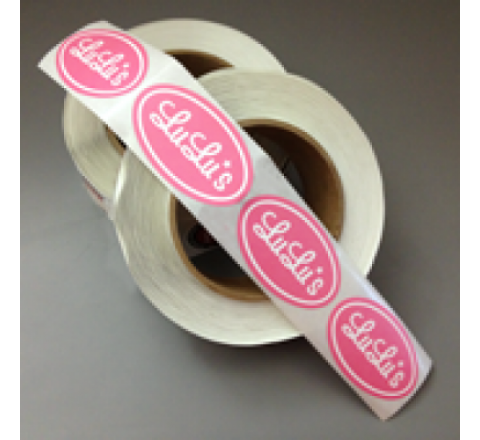 Oval Stickers On Roll