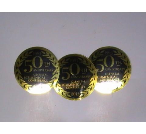 Gold Metallic Colour Stickers