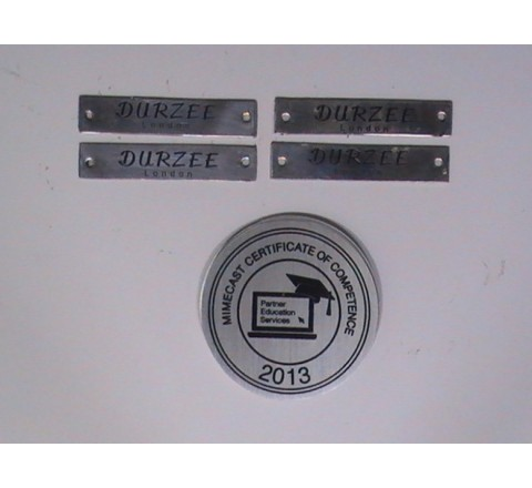 Silver Metal Stickers