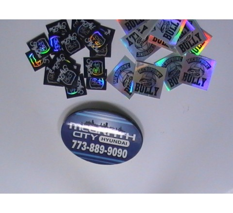 Oval Foil Sticker