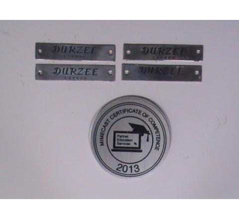 Octagon Metal Stickers