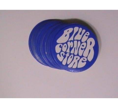 Octagon White Vinyl Sticker