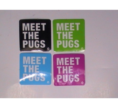 Square White Vinyl Stickers
