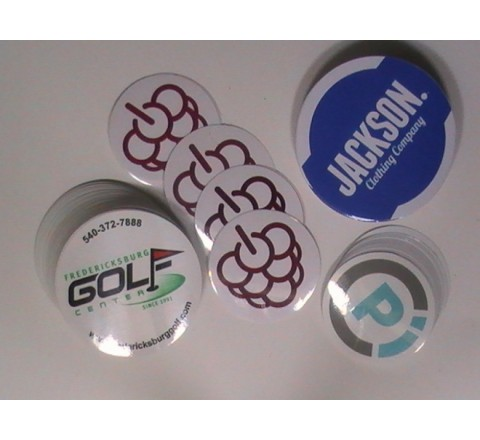 Round White Vinyl Sticker