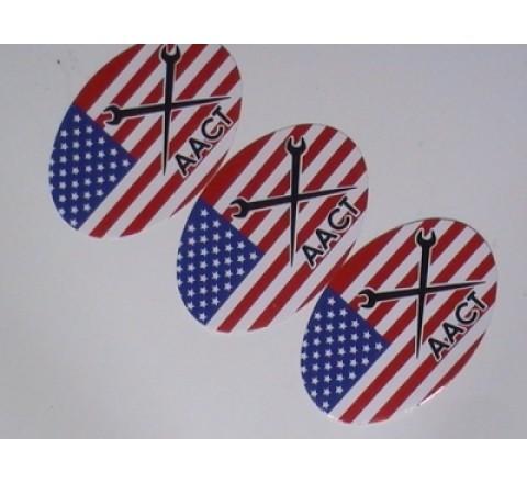 Oval White Vinyl Sticker