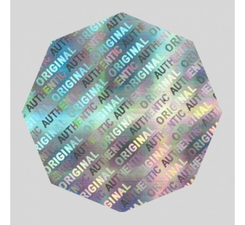 Octagon Hologram Sticker
